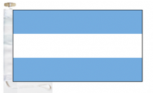 Argentina Civil Ensign Courtesy Boat Flags (Roped and Toggled)
